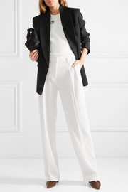 Oversized double-breasted crepe blazer
