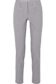 Michael Kors Collection Gingham cotton-blend straight-leg pants