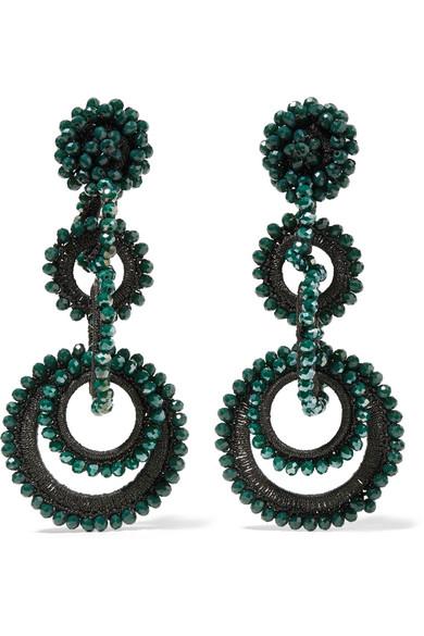 Sundrop Bead And Silk Earrings - Emerald Bibi Marini eqAB53