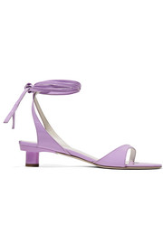 Scott crinkled patent-leather sandals