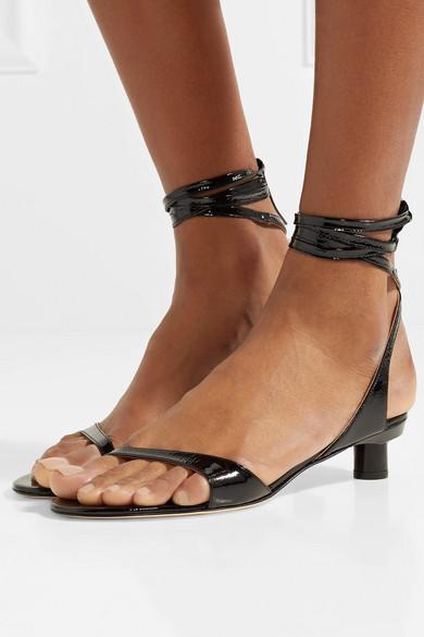 441b6f973 Scott crinkled patent-leather sandals