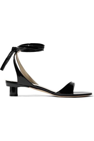 a3574ca4f Tibi. Scott crinkled patent-leather sandals
