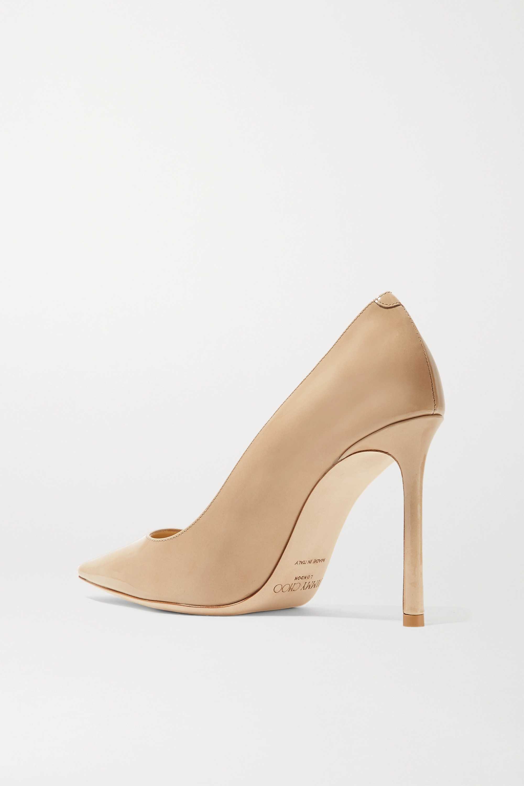 Sand Romy 100 Patent-leather Pumps | Jimmy Choo