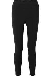 Stretch-crepe leggings