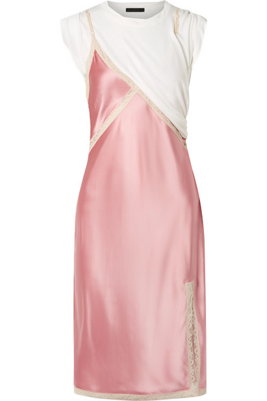 T By Alexander Wang Woman Silk-satin Midi Slip Dress Antique Rose Size 2 Alexander Wang UXYoRmk6