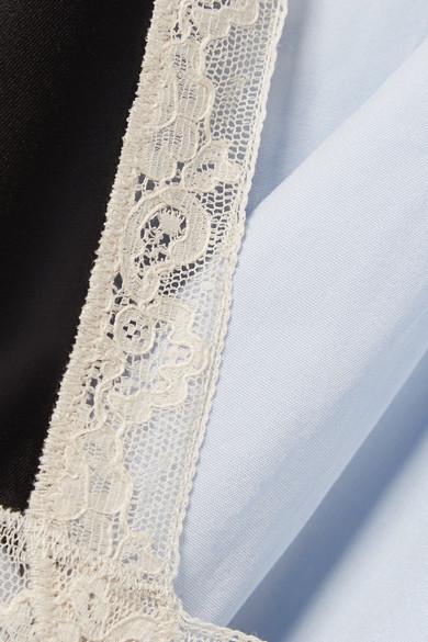 14ba00be67c Alexander Wang. Layered lace-trimmed satin and cotton-poplin mini dress.   696.50. Play