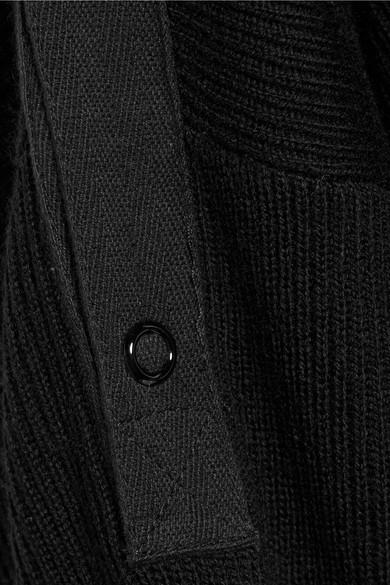 T by Alexander Wang Minikleid aus einer gerippten Merinowollmischung