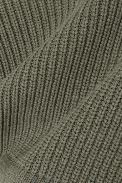 T by Alexander Wang Verkürzter, schulterfreier Pullover aus einer Baumwollmischung