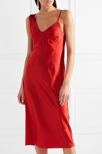6061a0f4b1fe alexanderwang.t | Satin midi dress | NET-A-PORTER.COM