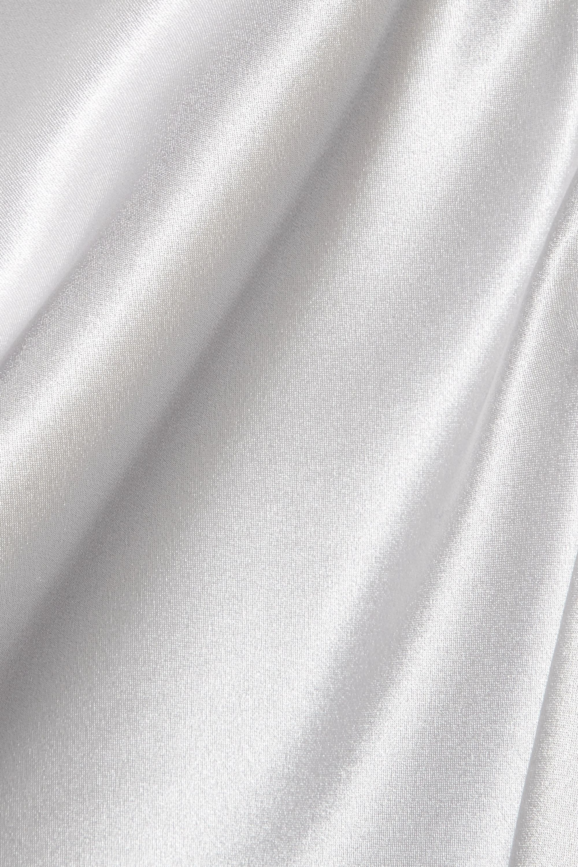 Fleur du Mal Draped silk-charmeuse camisole