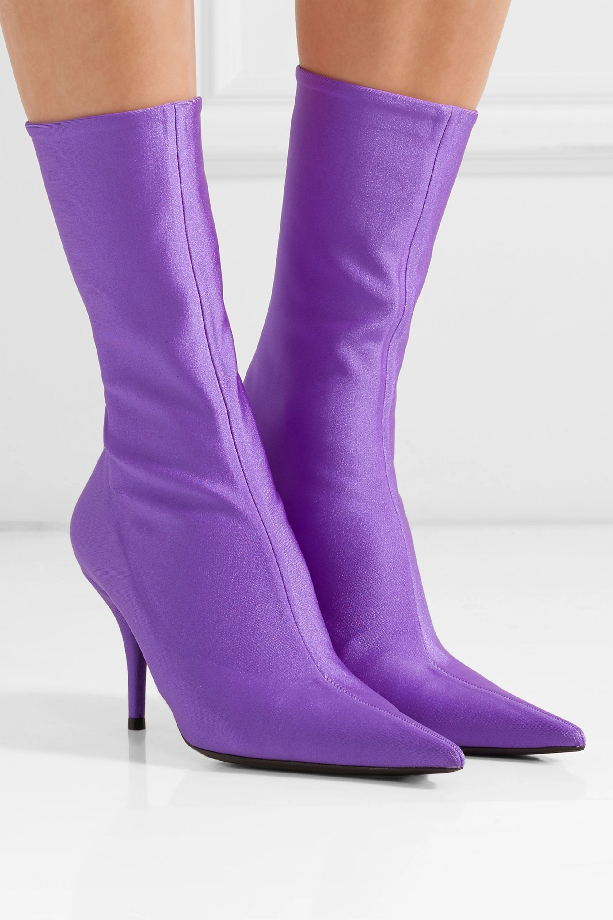 Knife spandex sock boots by BALENCIAGA, available on net-a-porter.com for $833 Kim Kardashian Shoes Exact Product