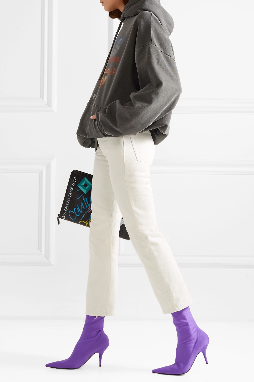 Balenciaga Knife spandex sock boots