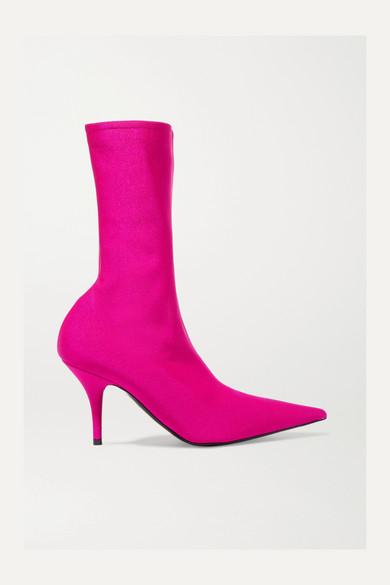 Balenciaga - Knife Spandex Sock Boots - Pink