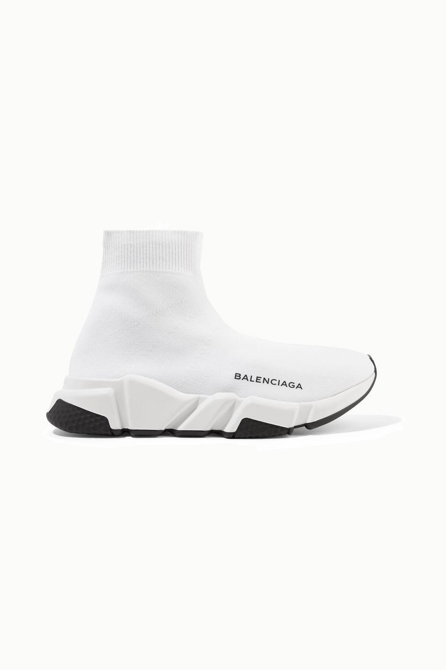 Balenciaga Speed logo-print stretch-knit high-top sneakers