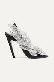 Balenciaga Talon Slash sequin-embellished satin slingback sandals