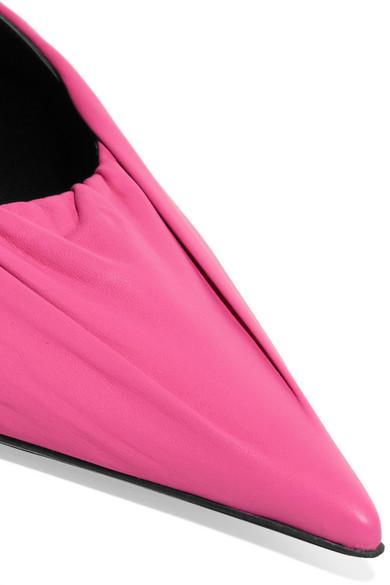 Balenciaga Knife Mules aus Leder Billig Verkauf 2018 Auslass 100% Garantiert YQbQrM