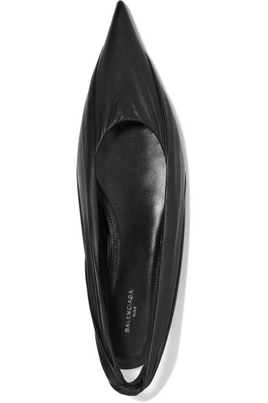 Balenciaga Knife Flat Shoes With A Pointed Cap Of Leather