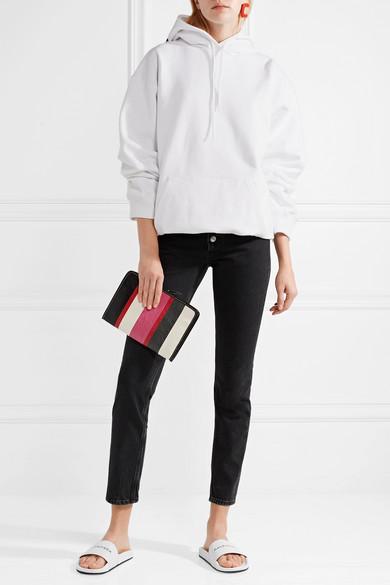 Balenciaga Pantoletten aus Leder mit Logoprint