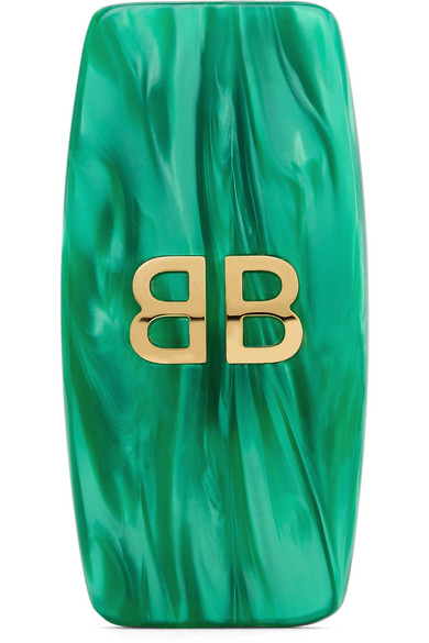 Balenciaga - Acrylic And Gold-tone Clip Earring - Green