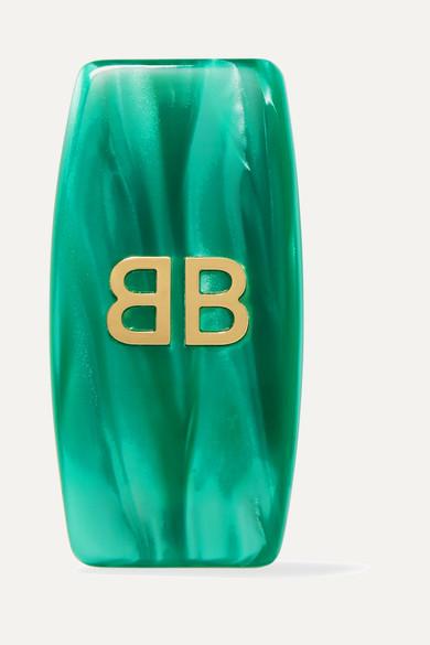 Balenciaga - Gold-tone Resin Clip Earring