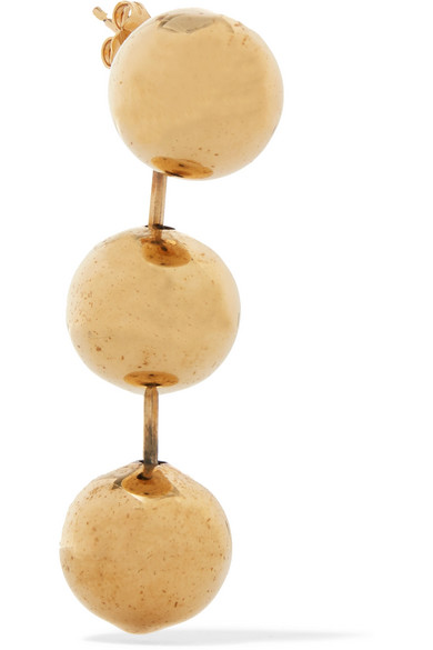 Balenciaga Burnished Gold-tone Earrings X3x68VFLwi
