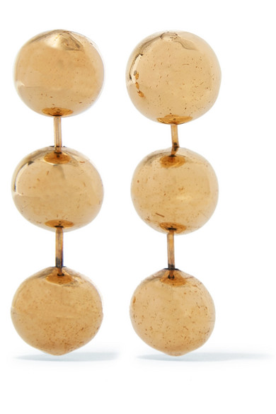 Balenciaga Burnished Gold-tone Earrings LdoJdW
