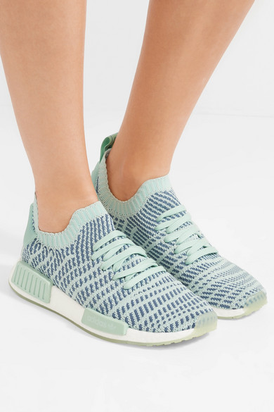 592944ae4c4d adidas Originals. NMD R1 rubber-trimmed Primeknit sneakers