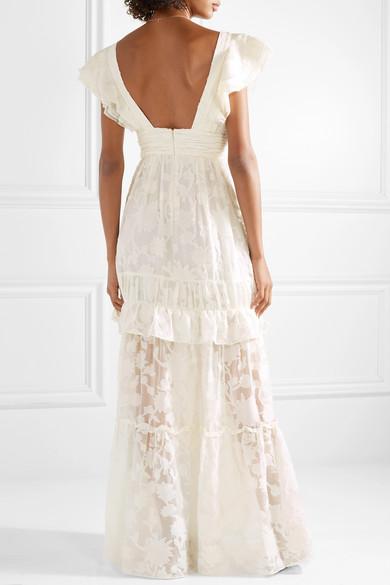 Rachel Zoe   Violet ruffled fil coupé cotton and silk-blend gown ...