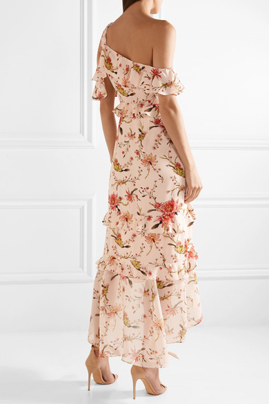 Rachel zoe jillian one shoulder floral print silk georgette midi play mightylinksfo
