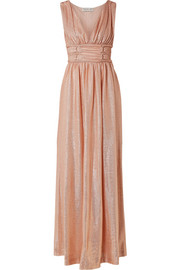 Madison metallic knitted maxi dress