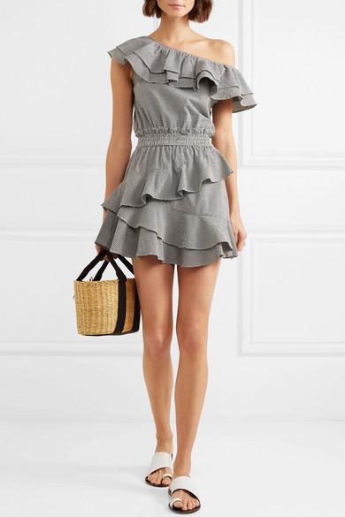 LoveShackFancy Lacey Minikleid aus kariertem Seersucker aus einer Baumwollmischung