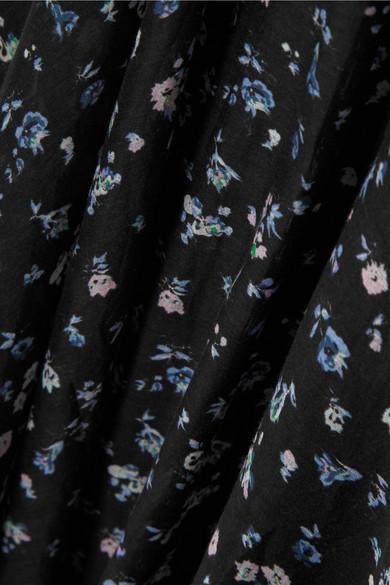 LoveShackFancy Larissa floral bedrucktes Maxikleid aus einer Baumwoll-Seidenmischung