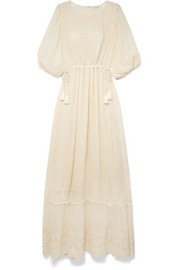 Cecily embroidered georgette maxi dress