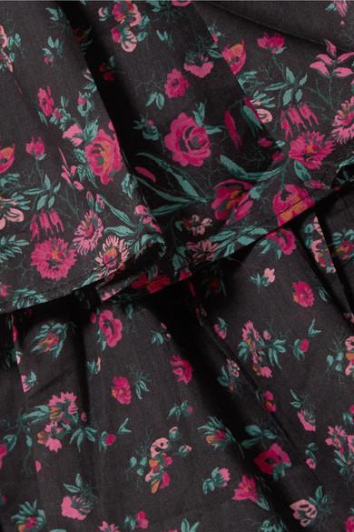 LoveShackFancy Maria schulterfreies Baumwolloberteil mit Blumenprint