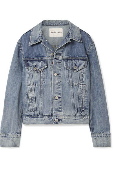 Sandy Liang Wells Oversized-Jeansjacke mit Verzierung