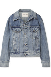 Wells oversized embellished denim jacket