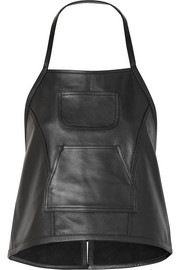 Congee buckled backless leather top