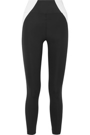 Paneled stretch leggings
