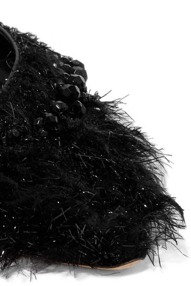 Simone Rocha Flache Slingback-Schuhe aus Metallic-Shearling-Imitat und Leder mit Zierperlen Spielraum Neue Stile Zahlen Mit Paypal Günstigem Preis Original Zum Verkauf Rabatt Für Billig 89Qiv9xmll