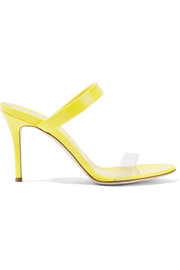 Ali patent-leather and Perspex sandals