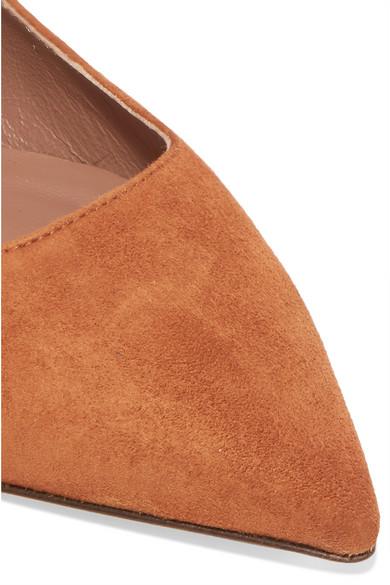Tabitha Simmons | Hermione Kappe flache Schuhe mit spitzer Kappe Hermione aus Veloursleder 50f8ab