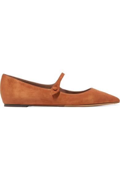 Tabitha Simmons Hermione flache Schuhe mit spitzer Kappe aus Veloursleder