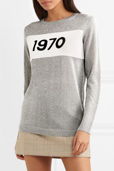 Bella Freud Sparkle 1970 Pullover aus Metallic-Strick