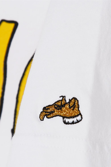 Bella Freud Ciao bedrucktes T-Shirt aus Baumwoll-Jersey