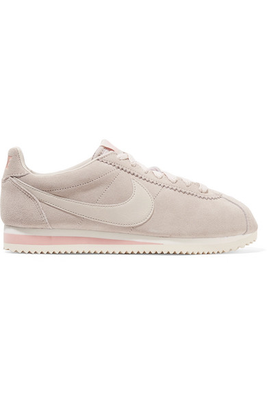 Women'S Classic Cortez Suede Casual Shoes, Brown in Stone