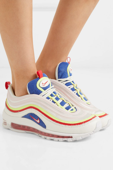 Nike | Air Max 97 SE leather and mesh sneakers | NET A
