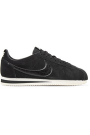 Nike Classic Cortez leather-trimmed suede sneakers