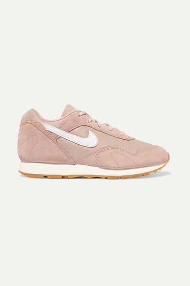 Nike | Outburst Mesh Sneakers aus Veloursleder, Mesh Outburst und Leder a069b0