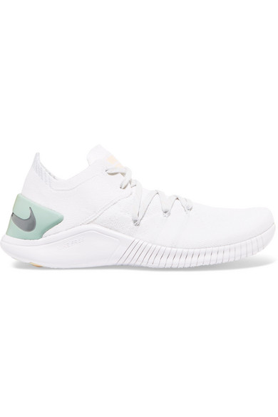 Women'S Free Tr 3 Flyknit Rise Lace Up Sneakers, White