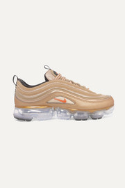 Air VaporMax 97 metallic faux leather and mesh sneakers